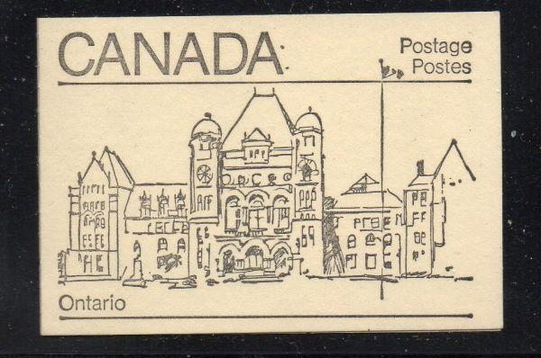 Canada Sc 940,944,945 1982  cpl booklet  USC#BK82  mint NH Ontario cover