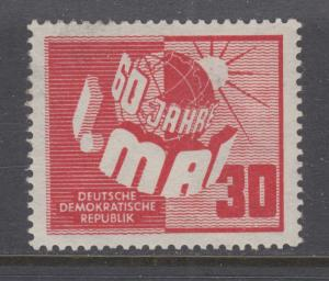 German Democratic Republic Sc 53 MLH. 1950 Labor Day, cplt set, VLH, VF
