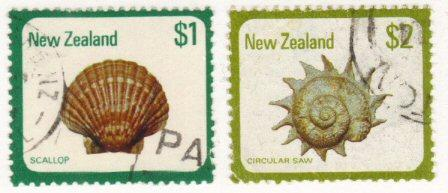 New Zealand #696-97 used $1,$2 shells