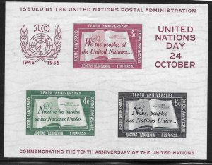 Doyle's_Stamps: First U.N. Souvenir Sheet, Scott #38**  cv $50.00