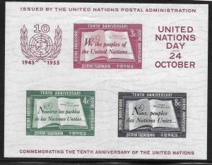 Doyle's_Stamps: MNH First U.N. Souvenir Sheet, Scott #38**  cv $50.00