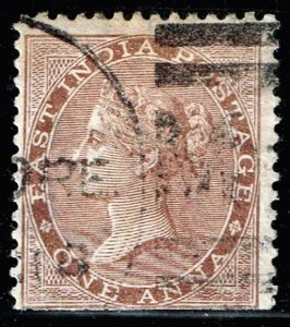 INDIA STAMP Queen Victoria  1 ANNA USED STAMP