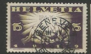 SWITZERLAND 192, USED STAMP, DAWN OF PEACE