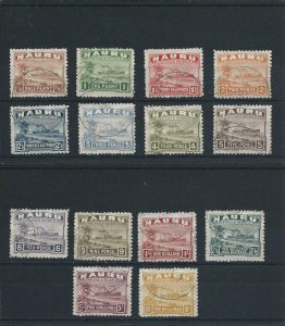 NAURU 1924-48 SET ROUGH SURFACE PAPER SET FU SG 26A/39A CAT £450