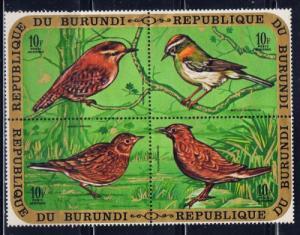 Burundi C133 NH 1970 Birds block of 4