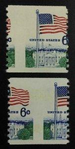 MOMEN: US STAMPS #6c VAR. 2 DIFFERENT MISPERFS MINT OG NH LOT #52973