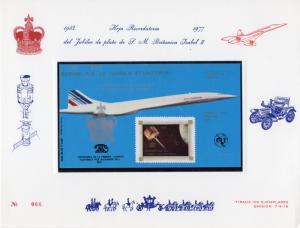 Equatorial Guinea 1976 Concorde/Space ovpt.Silver Jubilee in Silver 3000Ek.