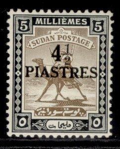 SUDAN GVI SG79, 4½p on 5m olive-brown & black, M MINT. Cat £48.