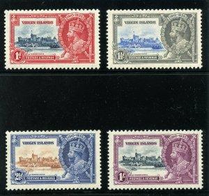 British Virgin Is 1935 KGV Silver Jubilee set complete MNH. SG 103-106. Sc 69-72