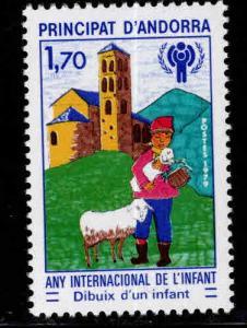 Andorra (French ) Scott 272  MNH** IYC stamp