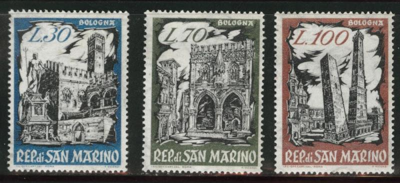 San Marino Scott 491-493 MNH** 1961 set