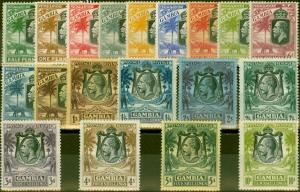 Gambia 1922-28 set of 19 SG122-142 V.F Very Lightly Mtd Mint