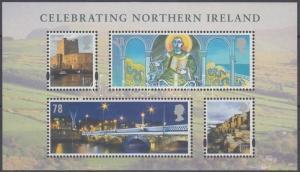 Great Britain Northern Ireland stamp National Day block MNH 2008 Mi 1 WS151527
