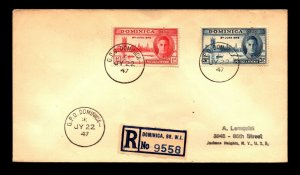 Dominica 1947 Registered Cover to New York - L11074