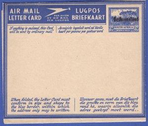 BECHUANALAND South Africa 3d Mint KGVI Air Letter / Aerogramme, H&G FG4