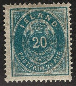 Iceland Vibrant Sc#17 Mint OG Fine SCV $325...powerful bargain!!