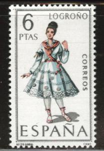 SPAIN Scott 1420 MNH** Logrono regional costume 1969