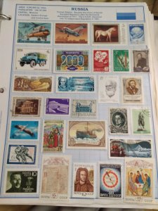 U.S.S.R Soviet Union noyta CCCP Stamp lot many years 1960s, 70s80s,90s