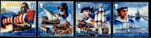 GIBRALTAR Sc#798-801 1999 Maritime Heritage Complete Set OG Mint Hinged