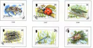 Jersey  Sc 1035-40 2002 Insects stamp set used