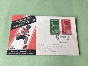New Zealand 1947 Health  vintage stamps cover Ref 53397