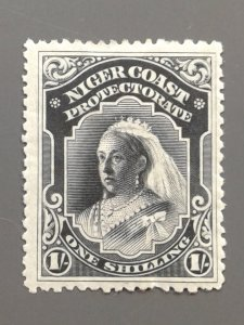 Niger Coast Protectorate 48 F-VF mint perf thin. Scott $ 70.00