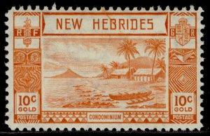 NEW HEBRIDES GVI SG53, 10c orange, M MINT.