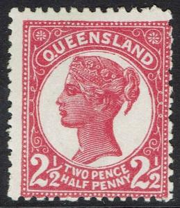 QUEENSLAND 1895 QV 2 CORNER NUMERALS 21/2D