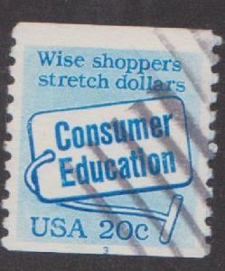 US #2005 Consumer Education Used PNC Single plate #3