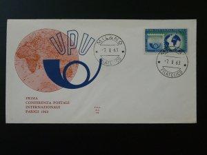 Universal Postal Union UPU conference 1963 FDC Italy 80619