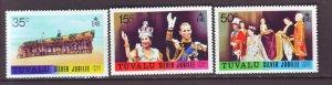 J22221 Jlstamps 1977 tuvalu mnh set #43-5 royality