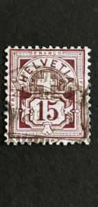 Switzerland #76b Used CV 32.50