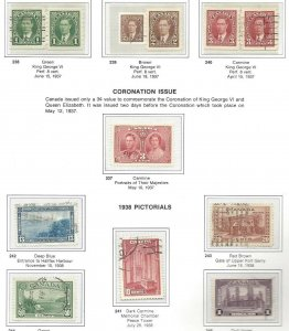 Canada 238 thru 262 - Mostly used - See Scans