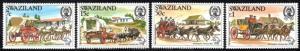 Swaziland - 1984 UPU Congress Mail Coaches Set MNH** SG 453-456