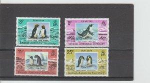 British Antarctic Territory  Scott#  72-75  MNH  (1979 Macaroni Penguins)