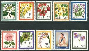 NIUE Sc#122-131 1969 Flowers Complete Set OG Mint NH