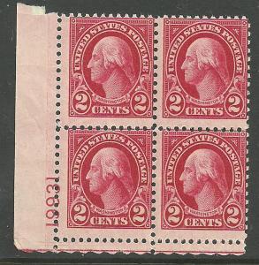 #634 Washington Plate Block Mint NH #19931 LL