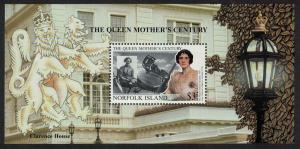 Norfolk 'Queen Elizabeth the Queen Mother's Century' MS SG#MS716 SC#692