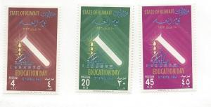 Kuwait, 197-99, Education Day Singles, MNH