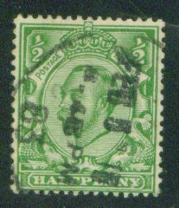 Great Britain Scott 158A KGV half p with 1912 watermark 32