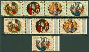 EDW1949SELL : BURUNDI 1980 Scott #579-82, B87-90 X'mas. Very Fine, MNH. Cat $42.