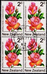 New Zealand. 1971 2c (Block of 4) S.G.967 Fine Used