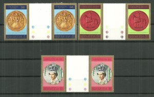 1978 Bermuda Coronation 25th Anniversary MNH Gutter Pair C/S of 3
