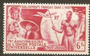 French India C17 Cer PA 21 MLH VF 1949 SCV $8.75