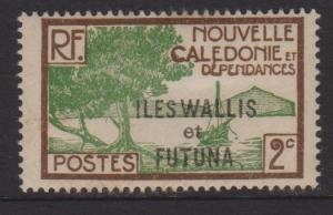 Wallis and Futuna Islands Sc#44 MH Tone Spots