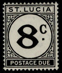 ST. LUCIA GVI SG D9, 8c black, M MINT.