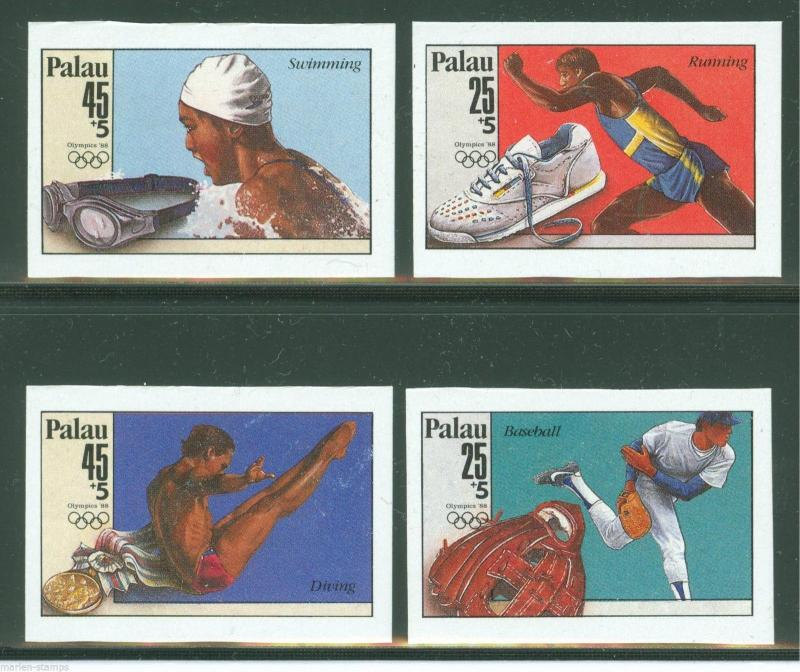 PALAU 1988 OLYMPICS IMPERFORATED SET RARE MINT NEVER HINGED