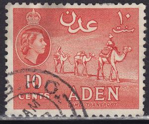 Aden 49a Hinged Used 1955 Camel Transport