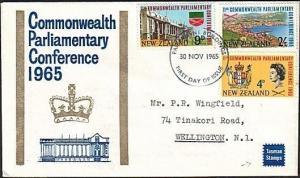 NEW ZEALAND 1965 Parliamentary Conference Tasman FDC Parliament pmk......17761..