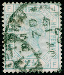 SG142, 2½d blue PLATE 19, USED. Cat £45. JF